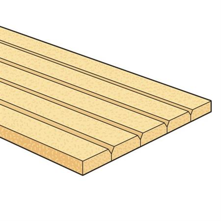 Example profile in softwood