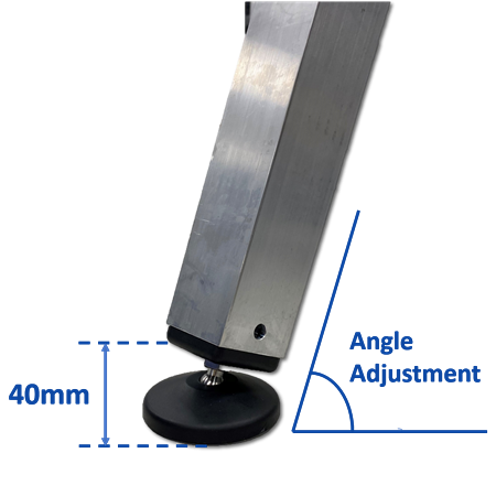 Adjustable feet for uneven surfaces