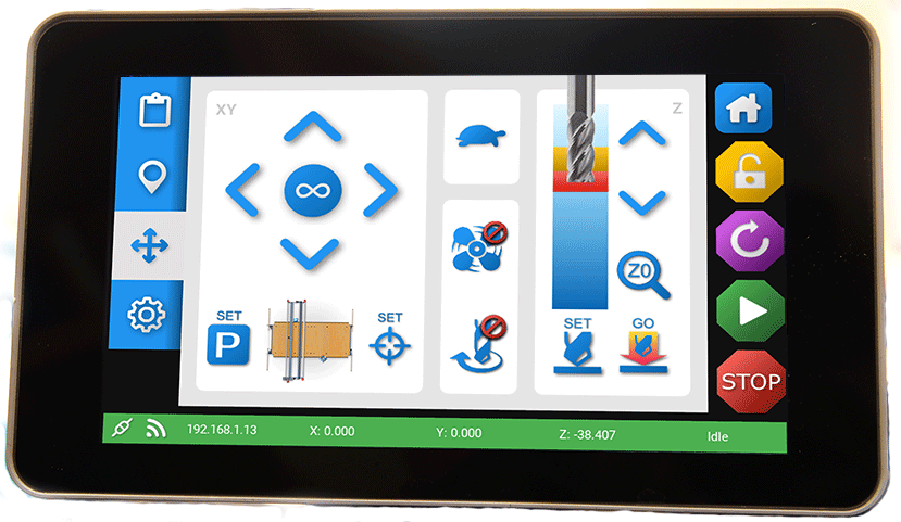 Enabling Touch Screen graphics
